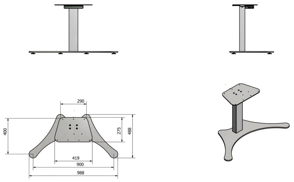 sähköpöytä seisomapöydät yksijalkainen